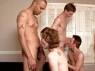 A Wild Gay Bareback And Cum Party