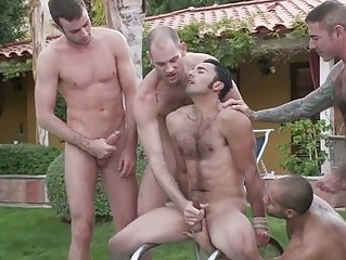 Nice looking homo stud got molested and humiliated at the party