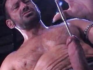 Unshaved Dilf Punishing His 10-Pounder Inserting Objects