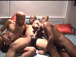 U wouldn't make no doubt of what these 3 hawt ebon males are into. They...