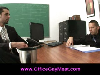 Gay seduces his boss to keep his job