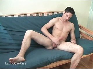 Hard body on solo masturbating playgirl