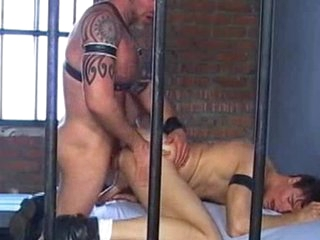 Thing has gobbled in this jailhouse shagging performance