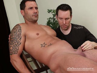 Muscular straight chap submits to his homosexual friend's fantasies