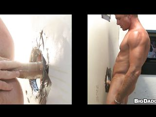 This hawt golden-haired guy with worthy worked out body was looking for anybody to please his cock. And now watch how hard this chab gets, when this chab is having a worthy blow job from some other sexually lustful golden-haired throughout gloryhole! Finished with that, in a short time the muscled begins tearing his ass with condoms.