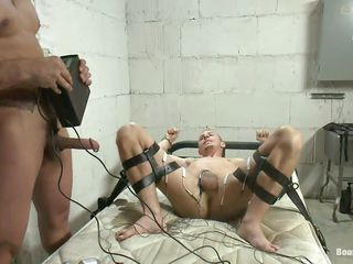 Do u like kinky stuff? Then u will love this! Those 2 males are having a lot of fun, one of 'em is bound on the daybed and receives his penis electrocuted after this chab licked and sucked the other guy. Look at those hard dicks, does it makes u lewd and ready to cum?