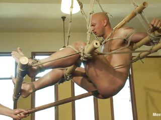 See this infirm fellow getting his wazoo whipped by a slutty cold-blooded executor. See how this chab is drilling his wazoo with a lengthy anal toy whilst this chab is hanging from the ceiling. Then this chab makes him suck that toy! This man also teasing his shlong with jerking and finally begins hitting him a whip!