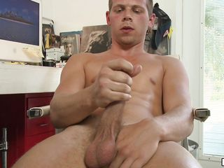 This sexually excited man is playing alone for his partner and thinking of their pleased times that man got a boner! Sluggishly that man takes off his clothing and begins rubbing his corpulent lengthy 10-Pounder showing off that big balls of his filled with cums expecting to splash out!