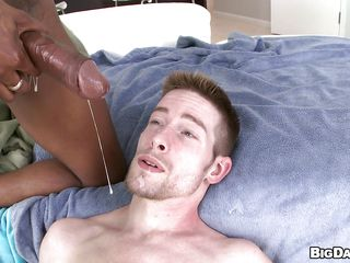 This lascivious white fellow is getting his hawt round booty drilled deep by a long hard wooden cock. This chab feels that rock hard shlong going inside him deeper and deeper stretching his soaked asshole to the maximum making him groaning and screaming of pleasure, finishing with a worthwhile goo fountain right in the face.