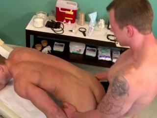 Gay str8 doctor bangs his weenie patient from behind