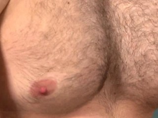 Bottom muscle masturbates his thick cock and can not get sufficiently