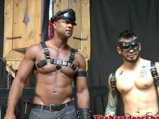 Interracial homo hunks in kinky foursome