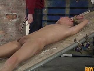 Ashton uses his fresh sex toy device on a large uncut hard cock