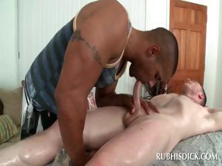 Interracial oral with gay guys