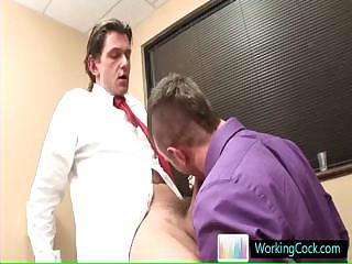 Engulfing and fucking on the job by workingcock