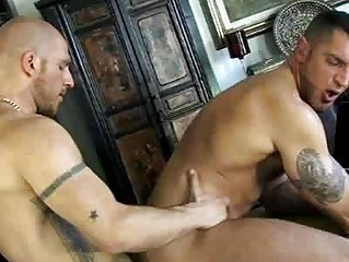 French gay stud got his dick blown by shaved stud