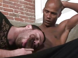 Sexually excited homo Ryan Starr seduces a darksome pecker