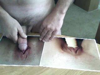 This guy masturbates to fotos of cunts