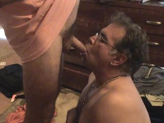 Man drinking void urine from a soft knob