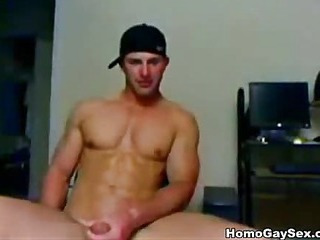 Sexy boy from college jerking off the knob