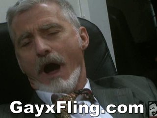 Homosexual Old Stud Masturbating In Office