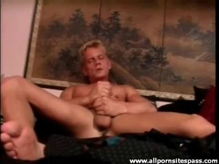 Anal hardcore with cumshots and masturbating