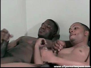 Anal penetration and ebony masturbation
