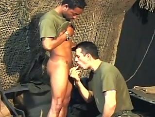 2 homo army dudes having hardcore anal pounding