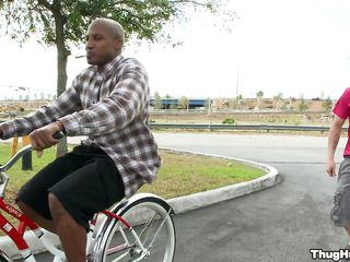 Black dude on a bike is starting to give a oral-sex to a white man. Will the white dude receive rammed too, or solely the darksome dude shall receive strapon in his ass? In what poses will they fuck and where shall that dude receive his the white man's love juice?