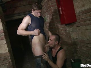 Although it's a public place that basement is flawless for gays to have a fuck. These dudes are here for us and they desire to show us how much enjoyment they have sucking cock. Glamorous Paris rubs his shlong and then Savkov approaches and takes out his. Paris kneels in front of him and enjoys the hardness and taste of his penis