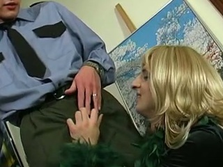 Hawt policeman knows how to handle with his inflexible penis encounter with sissy guy