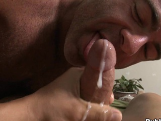 Actually seductive boy-friend cums in face gap of his closest boyfriend with a big load of cum