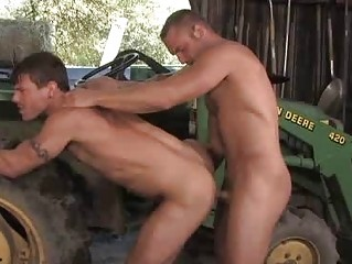 Muscle Cowboy DILF Fucks A Stylish Farmer