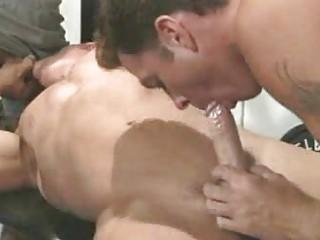 Macho Homosexual guys Slurp Dongs