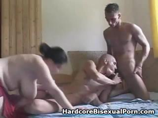 Compilation of three-some ambisexual act with bulky brunettes and swarthy brunettes