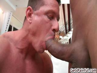 Mature muscle fellow engulfing black schlong part5
