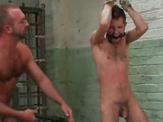 Bizarre homosexual chaps servitude show