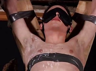 Aaron Aurora Fastened Up Blindfolded And Sucking