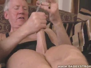 Wicked old man solo fetish jerk off