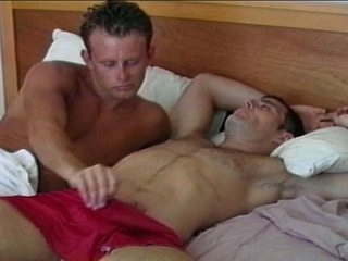 Concupiscent homo hunk wakes up big rod with amazing oral
