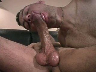 Sexy homo fellows suck and fuck on sofa