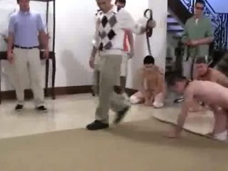 Excellent college hazing featuring charming young chaps