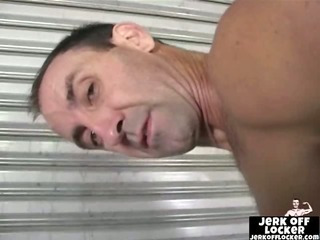 Hot older dude shows his wazoo