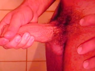 Ricco is all alone in the shower, this man is getting lascivious and touches his muscled body in advance of rubbing that hard weenie of his. Ricco enjoys every pont of time of his masturbation and if we stay with him perhaps this man will cum for us.