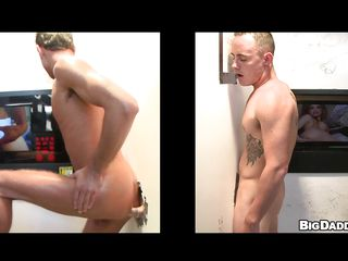 Here is this hot golden-haired hunk with his wonderful pumped up body, awaiting eagerly on the one side of the gloryhole to receive some penis for oral-stimulation job & anal! And when one greater amount golden-haired gay enters, this chab just puts his penis through the gap and receive a blowjob. And pretty in a short time these 2 lascivious chaps started to receive some anal action!