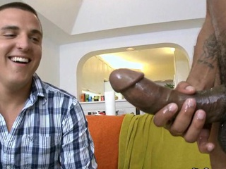 Hot dude attempts to swallow this monster weenie