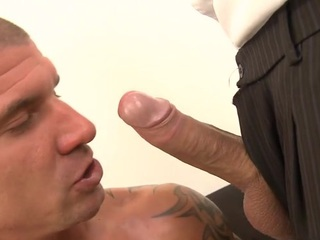 Gorgeous guy is engulfing gay stud's long lovestick zealously