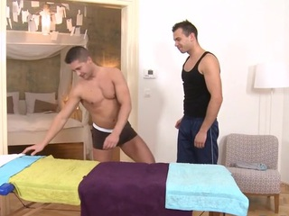 Sexy massage session for stylish homosexual guy