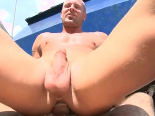 Round assed twink feels hard shlong stuffing his anal aperture