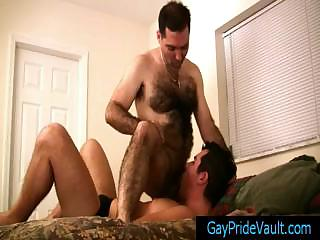 Guy getting his dark gap rimmed by bigfoot By Gaypridevault